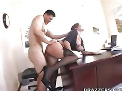 Claire Dames is a secretary to fuck