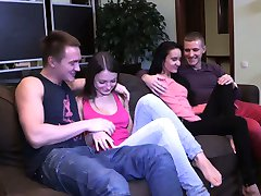 Young Sex Parties - Perfect double date with swinger sex