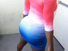 GoGo Fukme: Ebony Porn Stripper Sextape - Ameman