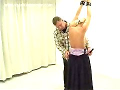 Buxom Blonde is Strung Up and Whipped