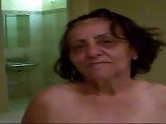 Grandma 70yo Anal fuck