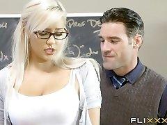 Gorgeous Blonde Teen School Girl