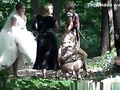 Big ass woman and small ass women peeing