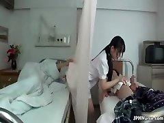 Japanese nurse enjoys deepthroating two part3
