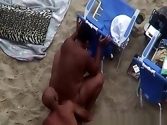 Nudist black couple spied banging in beach