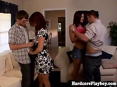 Classy babes shagging at swingers party