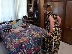 Mature brown-haired indulges in hot blowage sex