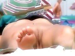 Naken på Stranden Spy nudist i Ræva og Fitta