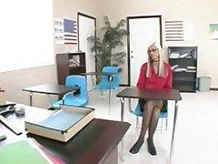 Blonde teen mit Brille Schrauben, Lehrer und bekommt cum auf Ihrer Brille
