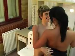 Pissing lesbians in office