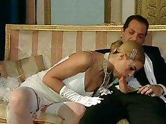 Italian blond diva has glamorous sex