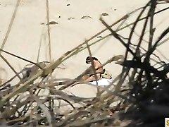 Spycam nude Woman on the Beach