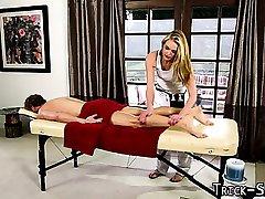 Fooled masseuse jizz soak