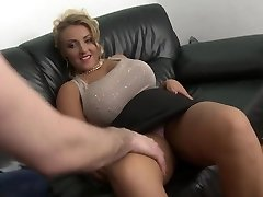 platinum-blonde milf with big natural tits shaved snatch fuck