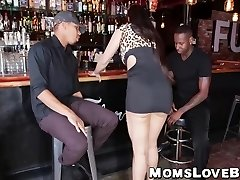 Big hooters and ass latina Milf hammered hard by strong BBCs