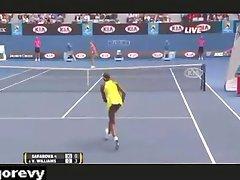 Venus Williams -  Upskirt No Panties On Tennis Court