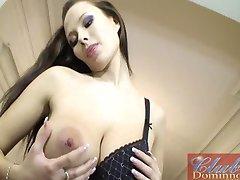 Pregnant Dominno striptease
