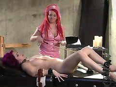 FemDom Nurse Gives Gyno Exam To Female Submissive With Electro and Sex Toys