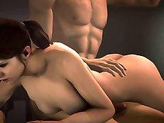Zoey handjob spanking and sex