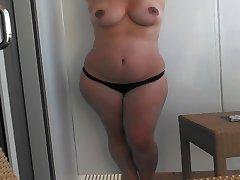 Żona bikini Striptiz