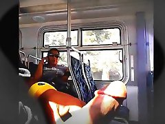 Latina Chick Can't Stop Looking At Big Dick On Bus