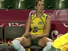 CLOSE UP SHOTS AT THE Excellent BRAZILLIAN  Fabulous VOLLEYBALL TEAM