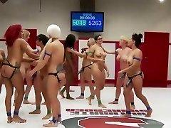 Ultimate Lesbian Wrestling Gangbang