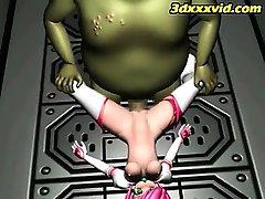 3D-Teen Natürlichen Sklave! - Entweichen - Monster-Fick