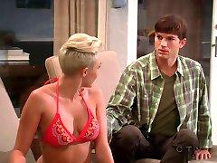Miley Cyrus In Bikini - Two And A Half Men