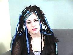 Lindo poco Goth Adolescente Insomnio