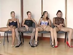 Hottest nylon girls vs 1 lucky guy