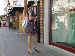 Nakupovanje okno v italijanski visoke pete sandala