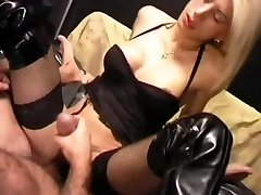 Blonde shemale jerking cum onto her belly - Pandemonium