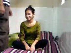 Virginal Indian Coed Sucks Fucks in BFs Dorm Bedroom