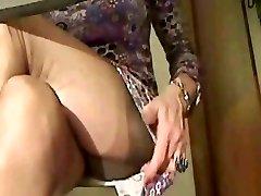Super sexy pończochy nogi w cam 1!!!
