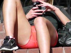 Spandex crotch close ups