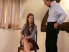 Brit Schoolgirl Masie Held After Class