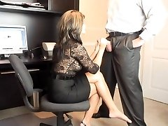 Scorching MILF Office Blow-job
