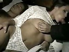 wifey gets fucked in all fuck-holes while husband is away