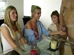 3 Moms Jerking Cock