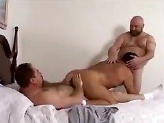 Crazy male in beautiful bareback, bears homo pornography clip