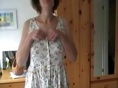 Timid Wife strips and plays