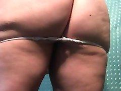 undressing after a workout