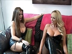 domme and friend use slave