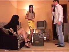 Russian femdom threesome