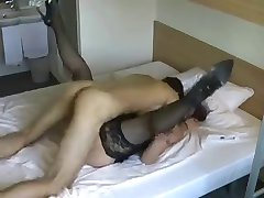 Beautiful mom with sweet saggy tits & guy