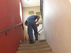 White Wife Showers and Bangs Black Plumber While Hubby Away! HOT.