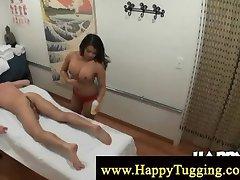 Sensual asian cock massage