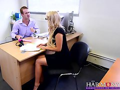 HARMONY VISION Gorgeous Blonde Babe Carla Cox Anal Gangbang fucked