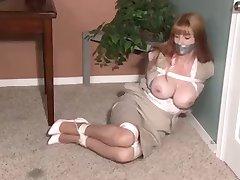 Secretary tries to escape